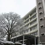 雪の300号館